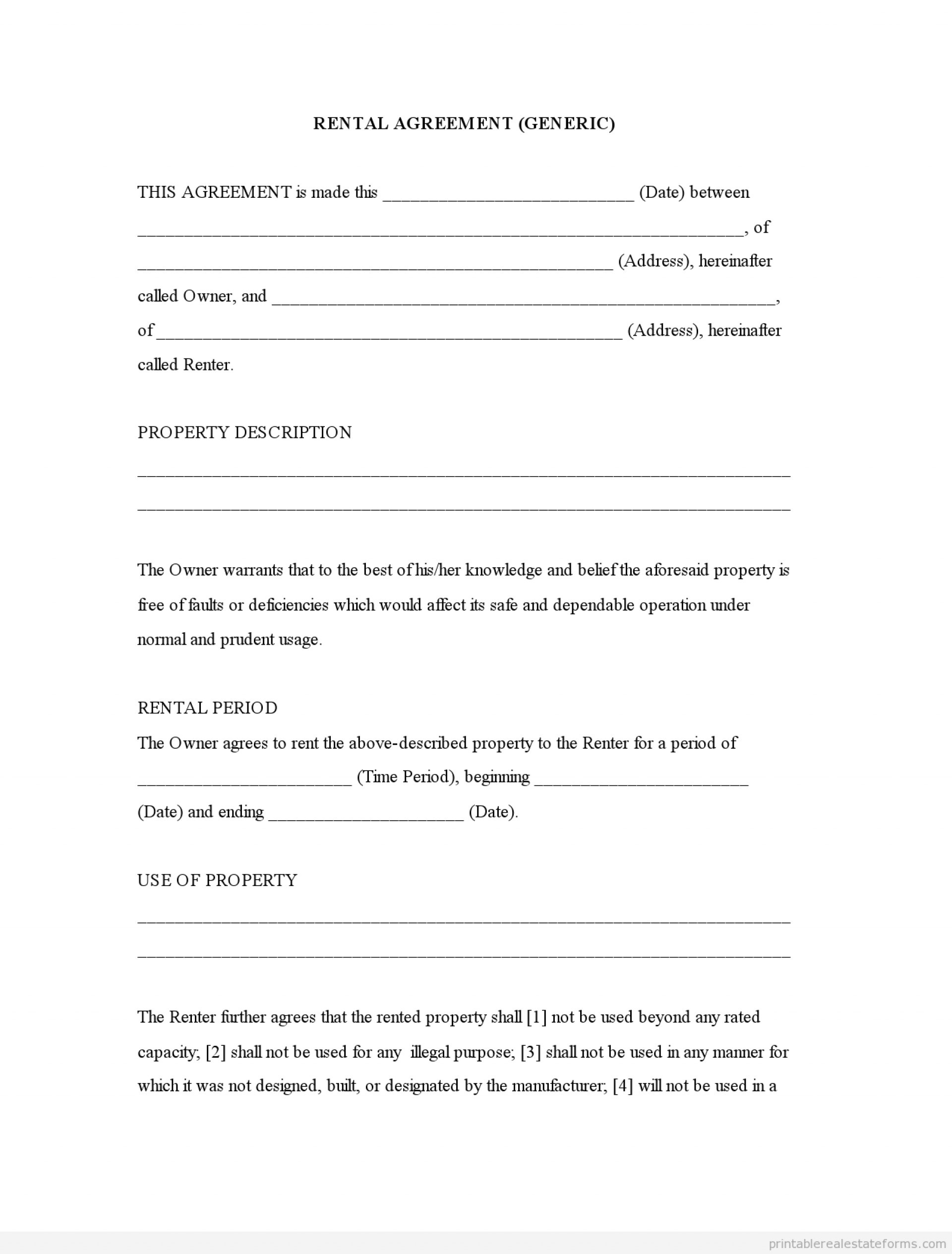 001 Template Ideas Free Printable Lease Agreement Outstanding - Free Printable Basic Rental Agreement