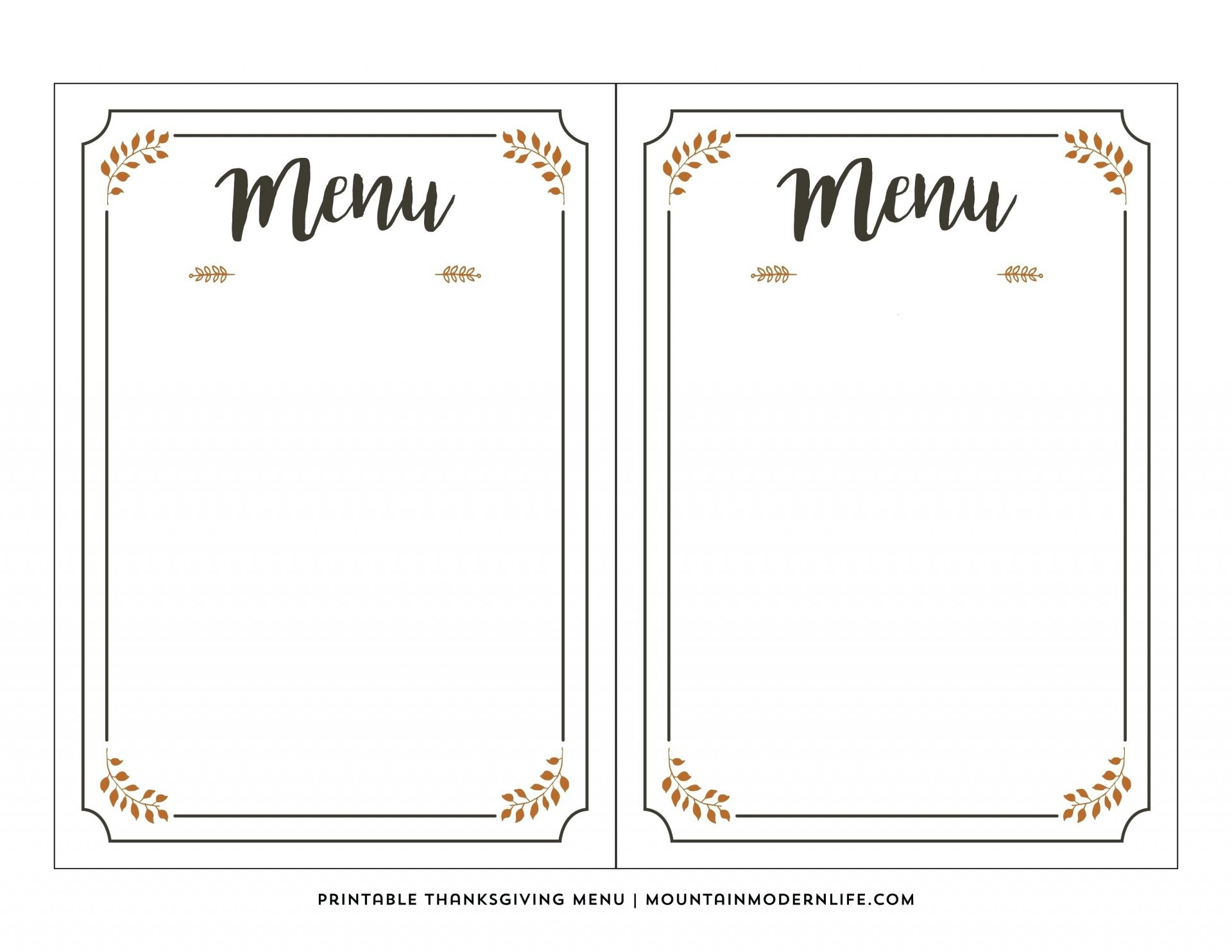 003 Free Printable Menu Template Templates For Kids New Awesome - Free Printable Menu Templates