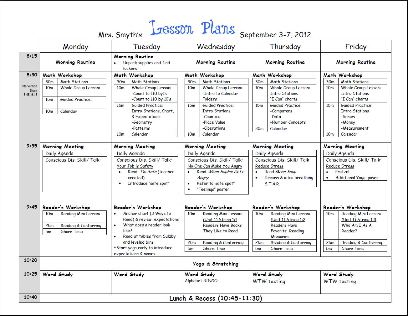 007 Weekly Lesson Plan Template Dreaded Templates Free Printable - Free Printable Preschool Lesson Plans