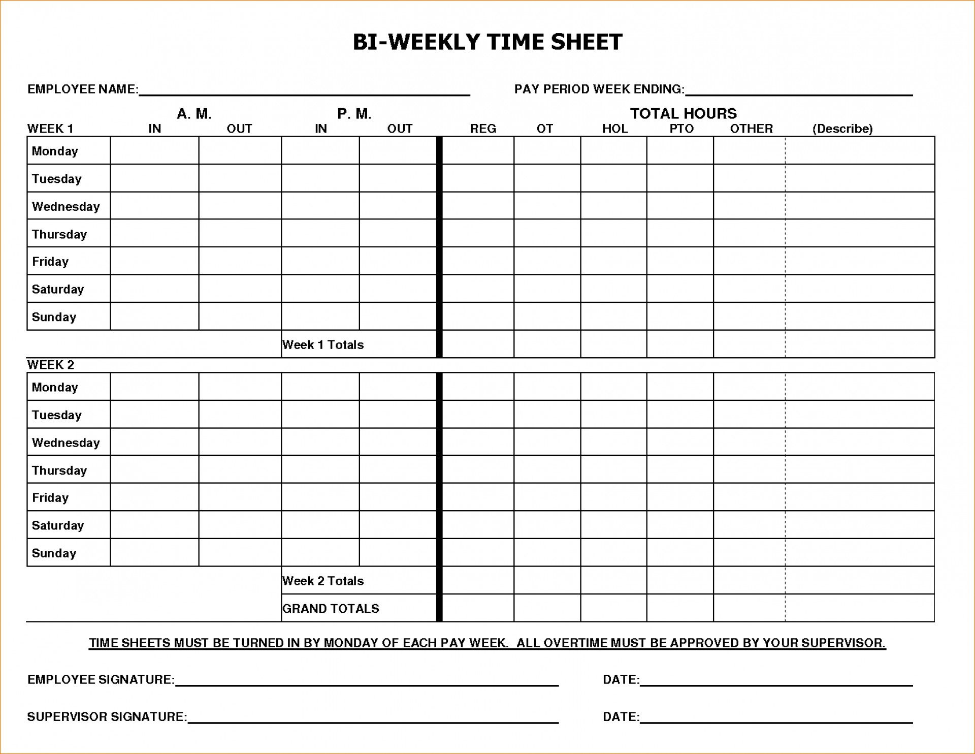 012 Timesheet Template Free Printable Of Best Time Sheets Templates - Free Printable Time Sheets Forms