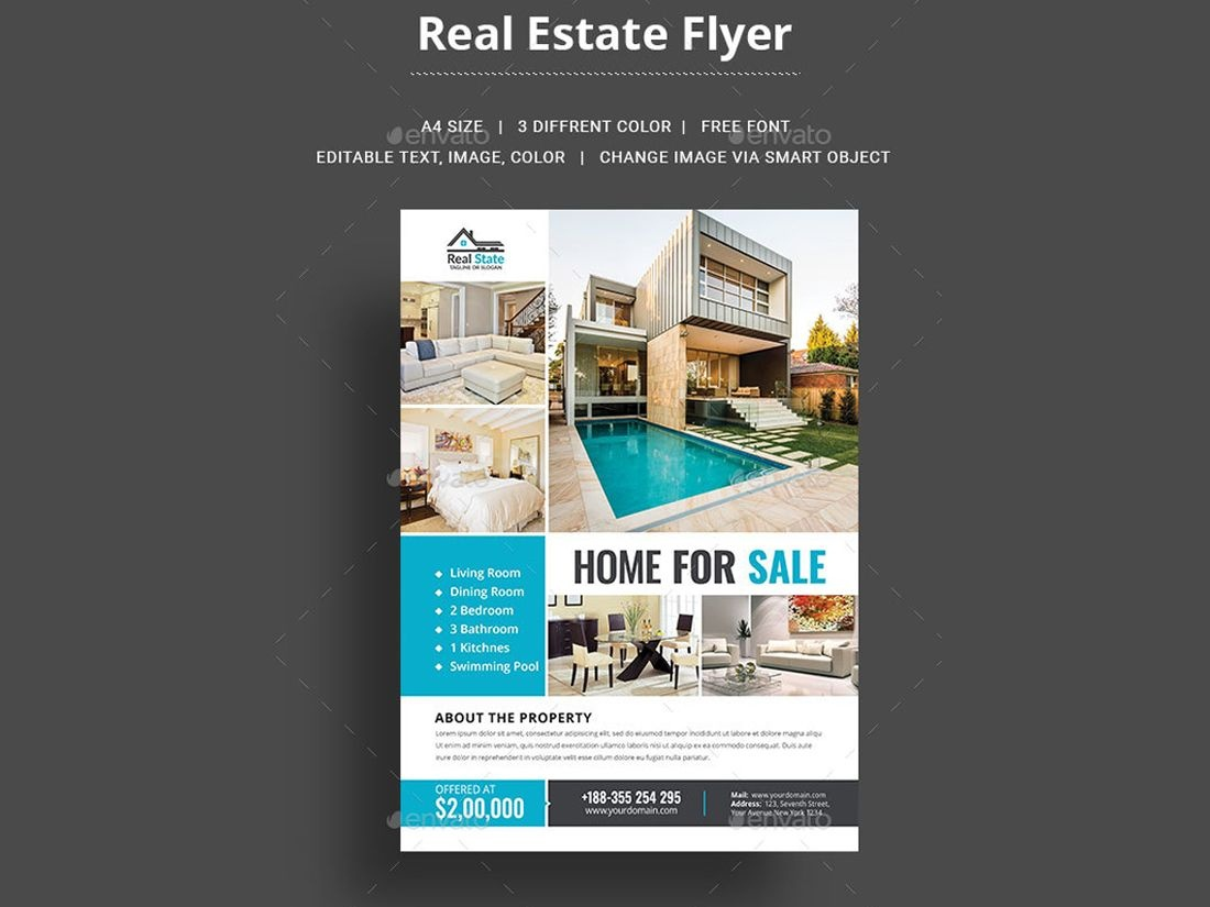 014 Real Estate Agent Flyer Template Astounding Ideas Free - Free Printable Real Estate Flyer Templates