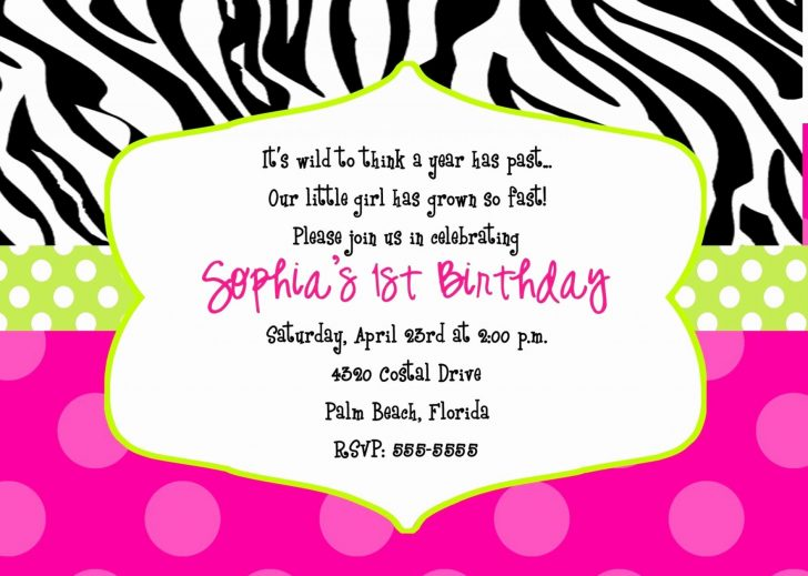 Free Printable Animal Print Birthday Invitations