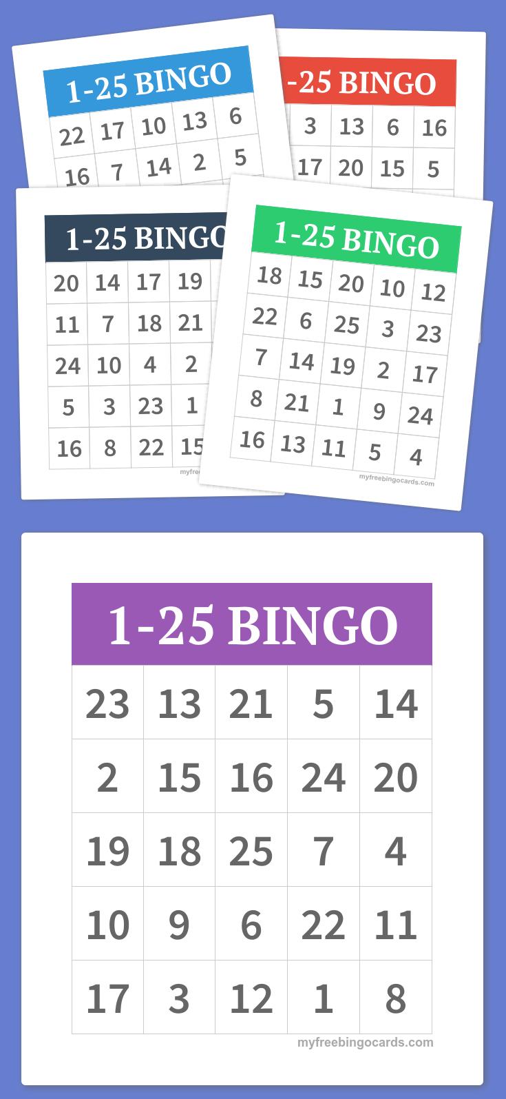1-25 Bingo   Diy   Alphabet Bingo, Bingo Cards, Bingo - Free Printable Spanish Bingo Cards