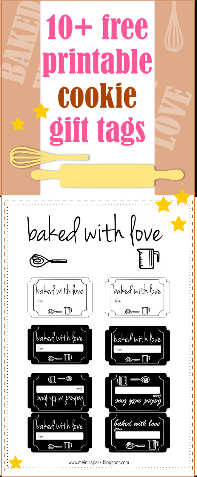 10+ Free Printable Cookie Gift Tags - Round-Up   Gift Tags   Cookie - Free Printable Baking Labels