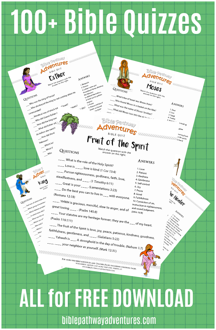 100+ Free Bible Quizzes For Kids | Bible Quiz | Bible Study For Kids - Free Printable Bible Trivia For Adults