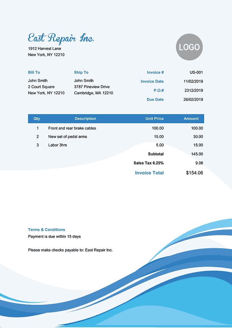 100 Free Invoice Templates   Print & Email As Pdf   Fast & Secure - Free Invoices Online Printable