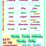 108 Free Months/days Of The Week Worksheets   Free Printable English Lessons For Beginners