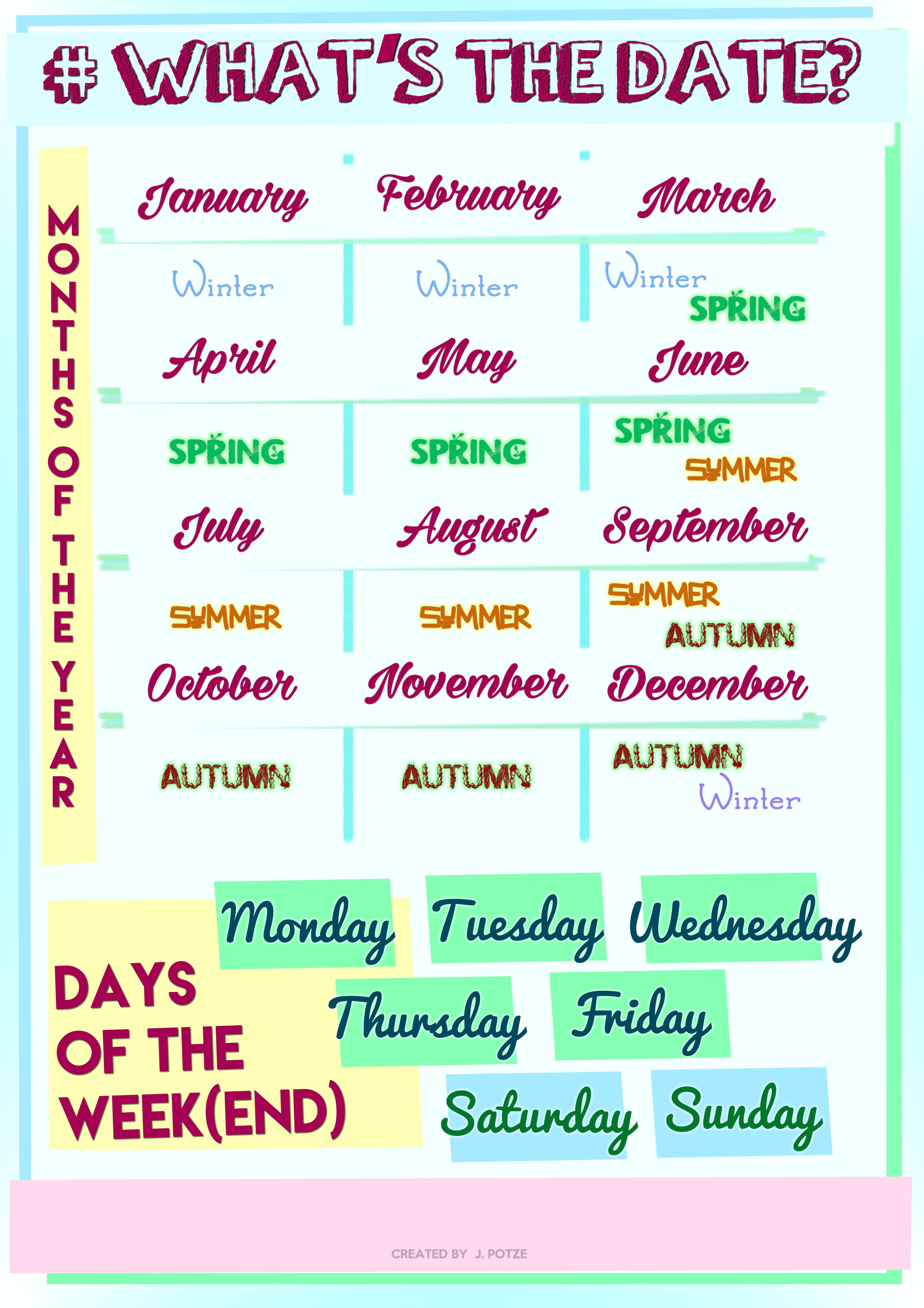 108 Free Months/days Of The Week Worksheets - Free Printable English Lessons For Beginners