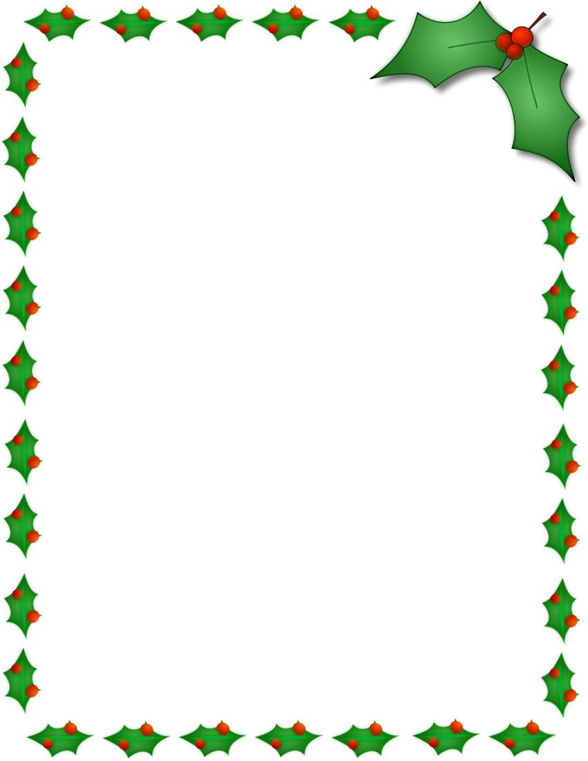 11 Free Christmas Border Designs Images - Holiday Clip Art Borders - Free Printable Christmas Frames And Borders