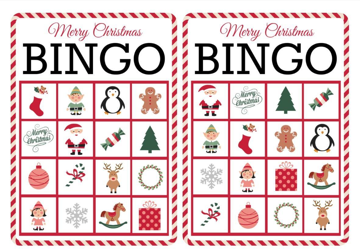 11 Free, Printable Christmas Bingo Games For The Family - Free Printable Christmas Bingo