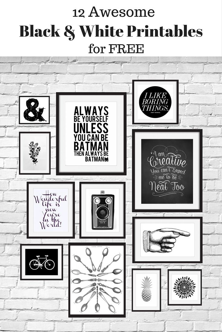 12 Free Black And White Printables Great For Using In Your Gallery - Free Printable Wall Art Black And White