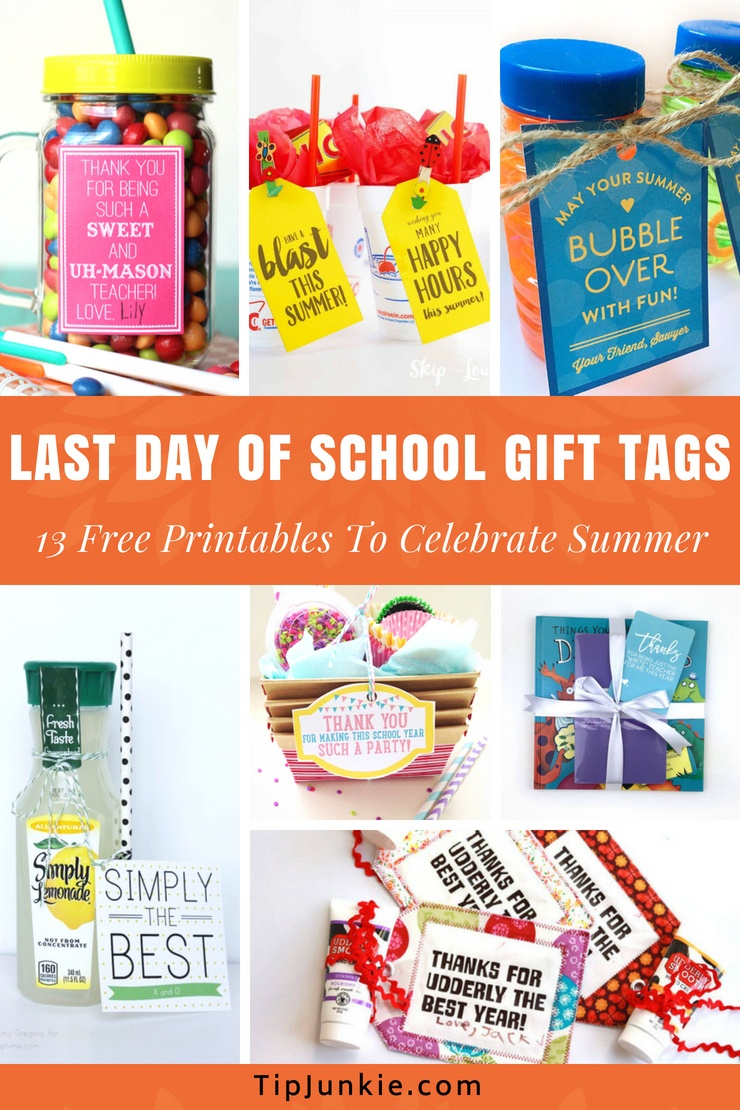 13 Last Day Of School Gift Tags [Free Printables] – Tip Junkie - Free Printable Gift Tags For Bubbles