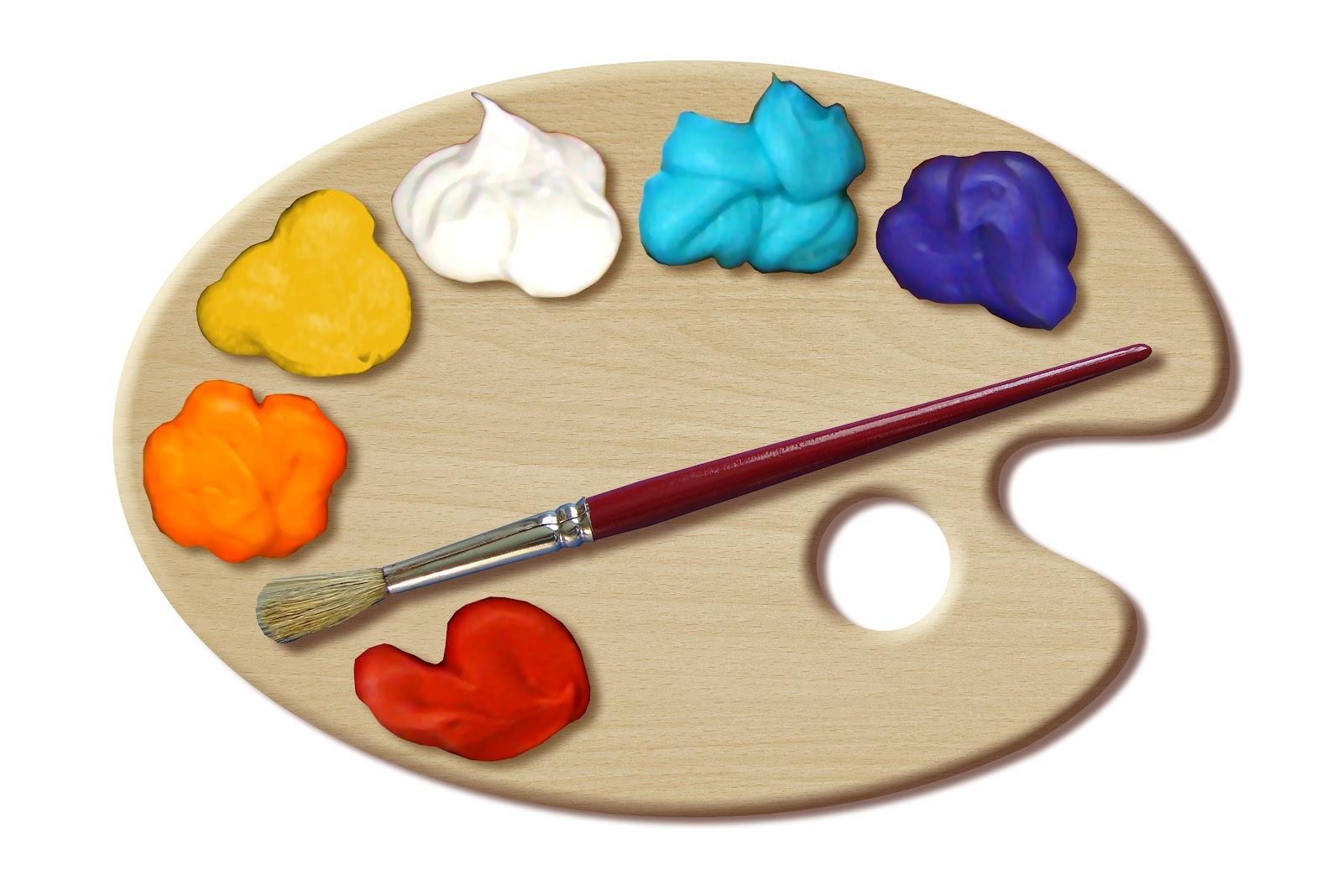 14 Painter's Palette Template Images - Paint Palette Template, Paint - Free Printable Paint Palette