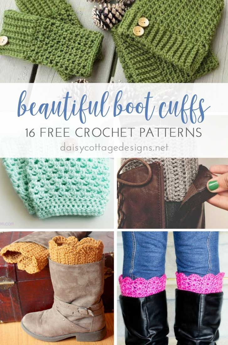 16 Free Boot Cuff Crochet Patterns   Best Of Daisy Cottage Designs - Free Printable Crochet Patterns For Boot Cuffs