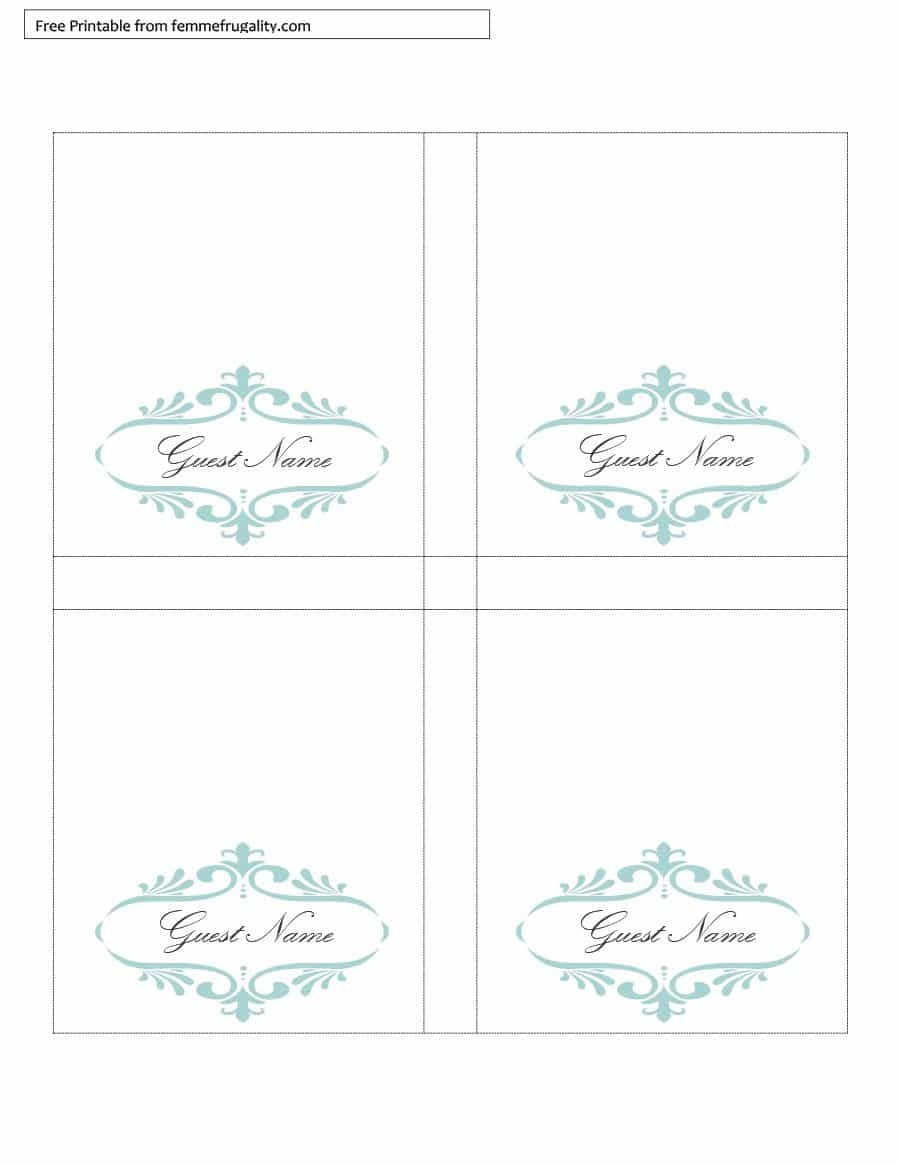 16 Printable Table Tent Templates And Cards ᐅ Template Lab - Free Printable Tent Cards Templates