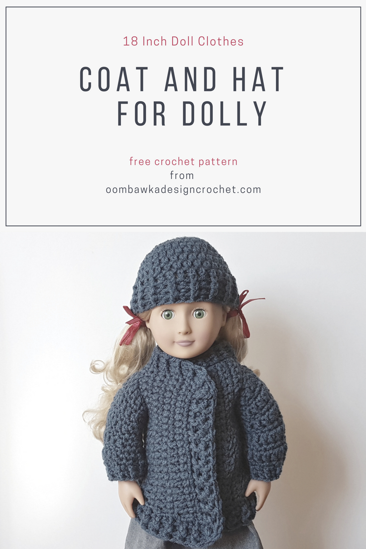 18 Inch Doll Clothes - Coat And Hat For Dolly | Dolls | Crochet Doll - Free Printable Crochet Doll Clothes Patterns For 18 Inch Dolls