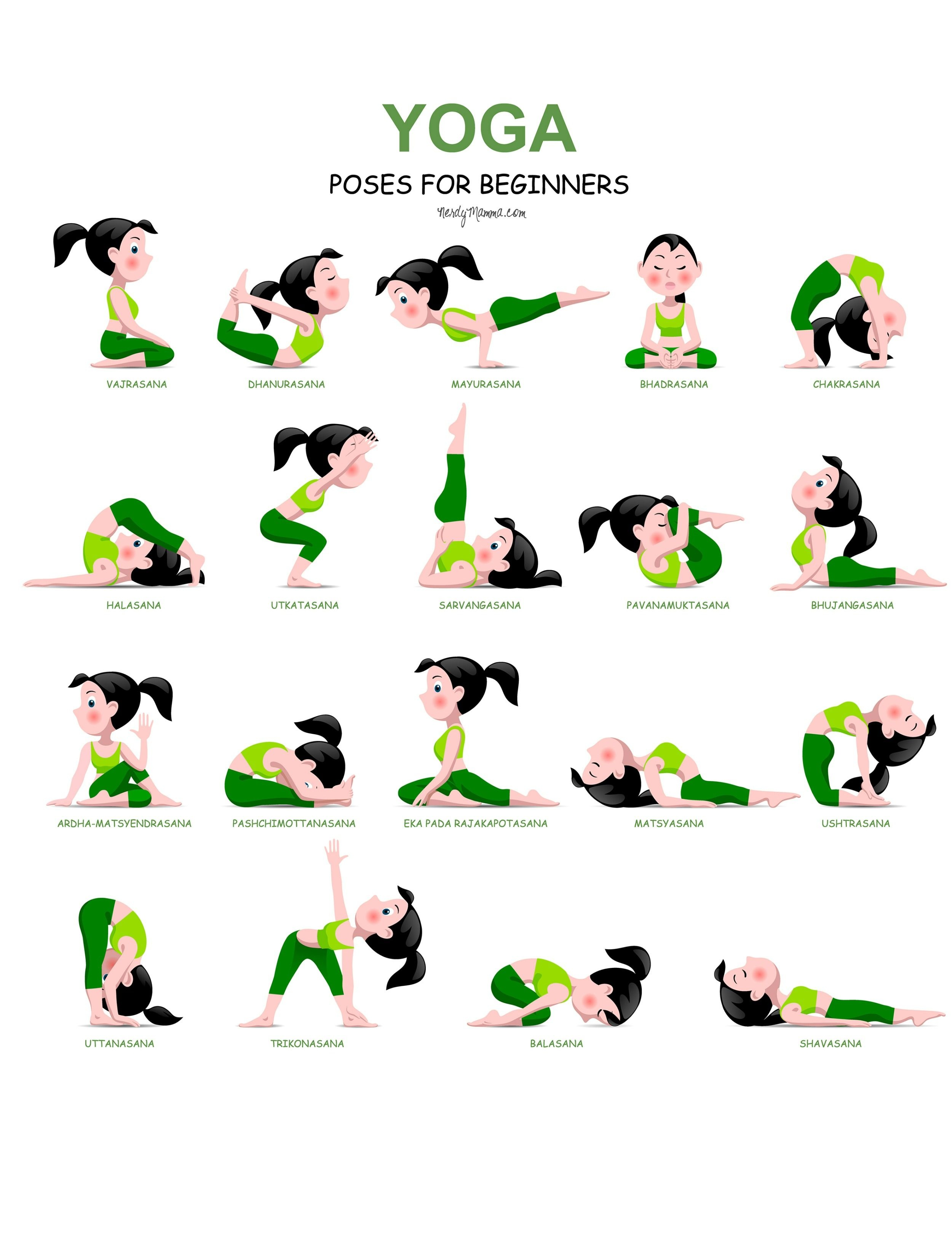 20 Easy Yoga Poses For Beginners With A Free Printable …   Yoga And - Free Printable Yoga Poses