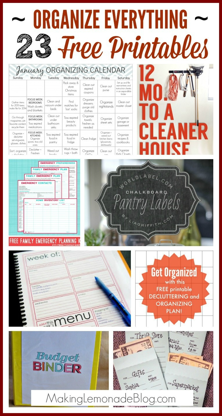 23 Free Printables To Organize Everything   Making Lemonade - Free Printable Household Binder