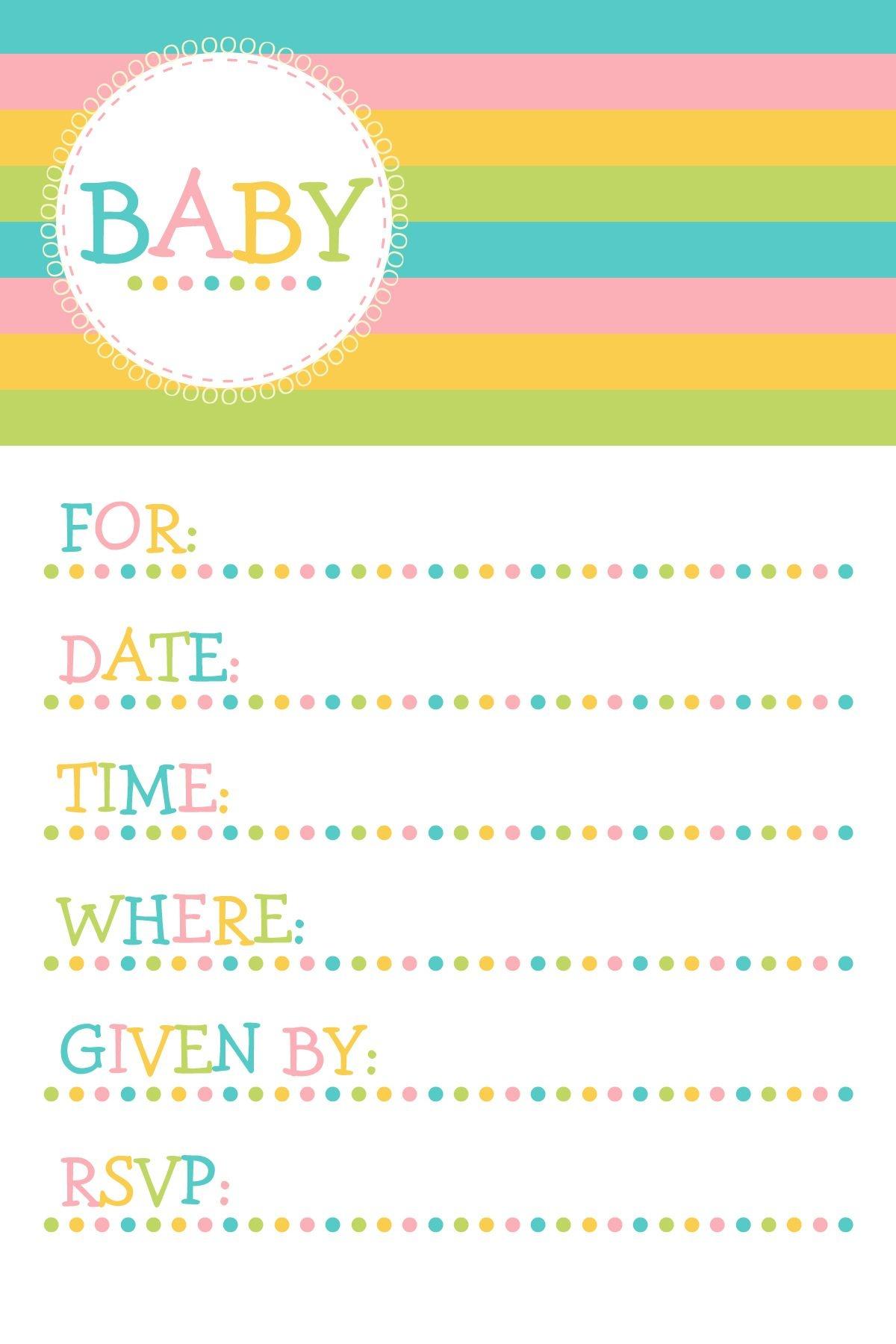 25 Adorable Free Printable Baby Shower Invitations - Free Baby Shower Invitation Maker Online Printable