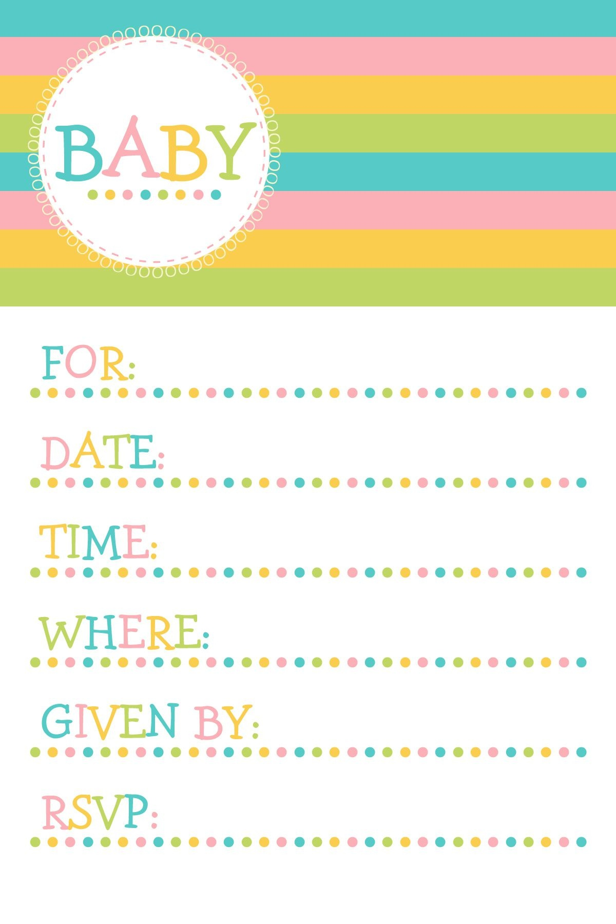 25 Adorable Free Printable Baby Shower Invitations - Free Printable Baby Sprinkle Invitations
