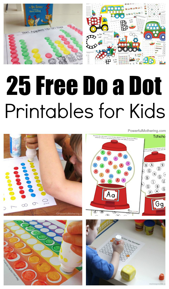 25 Free Do A Dot Printables For Kids To Play And Learn With - Free Printable Alphabet Dot To Dot Worksheets