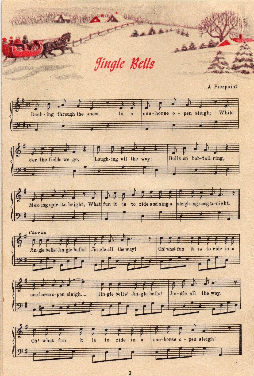 25+ Free Printable Vintage Christmas Sheet Music   Christmas Ideas - Christmas Carols Sheet Music Free Printable