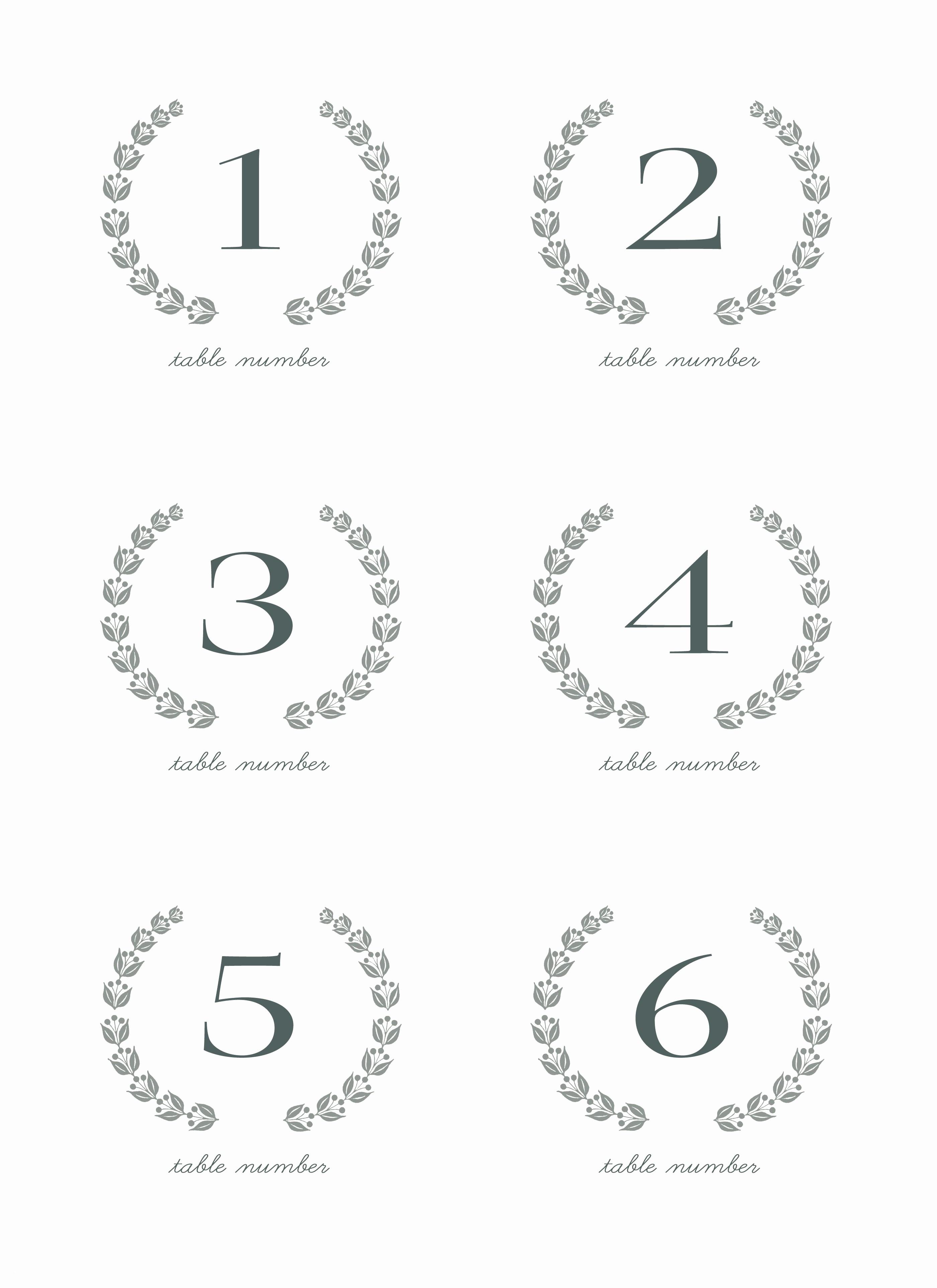 28 Elegant Printable Table Numbers   Kittybabylove - Free Printable Numbers