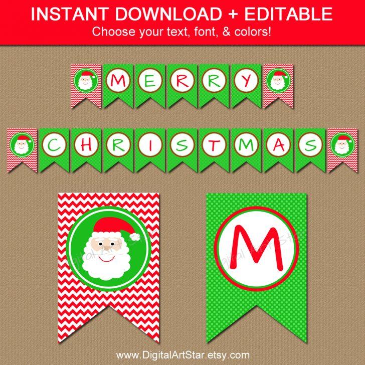 Free Printable Christmas Banner