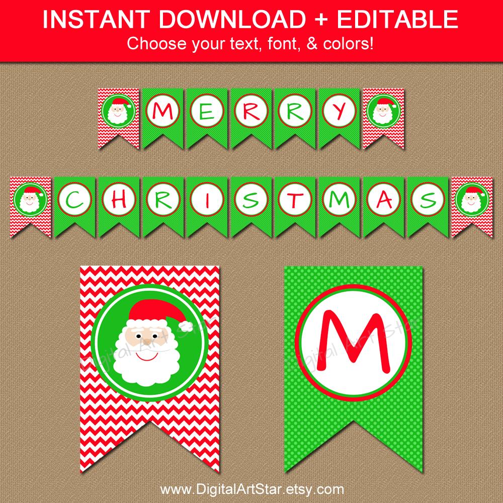 29 Images Of Christmas Free Printable Banners Template | Helmettown - Free Printable Christmas Banner