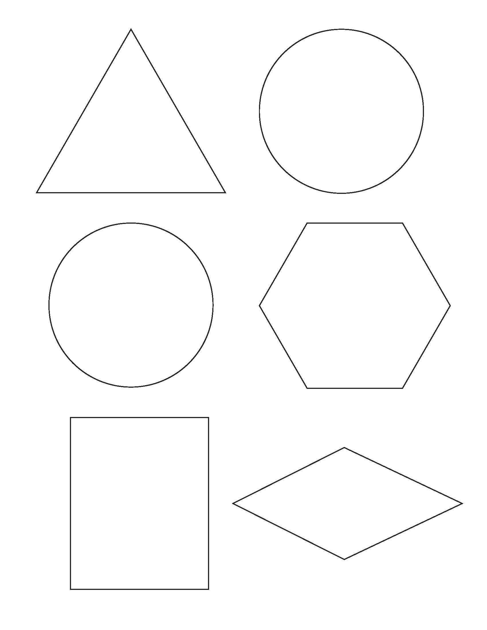 2D Shape Templates Printable – Pazzo - Free Shape Templates Printable