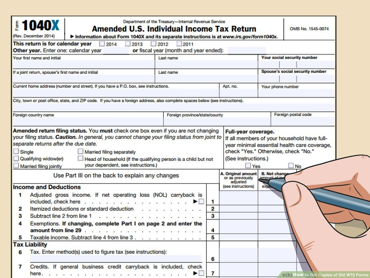3 Ways To Get Copies Of Old W‐2 Forms - Wikihow - Free 1099 Form 2013 Printable