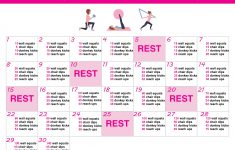 30 Day Summer Body Challenge + Free Printable Workout Schedule – Free Printable Workout Plans