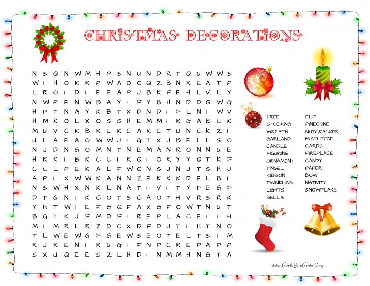 Free Printable Christmas Puzzle Sheets