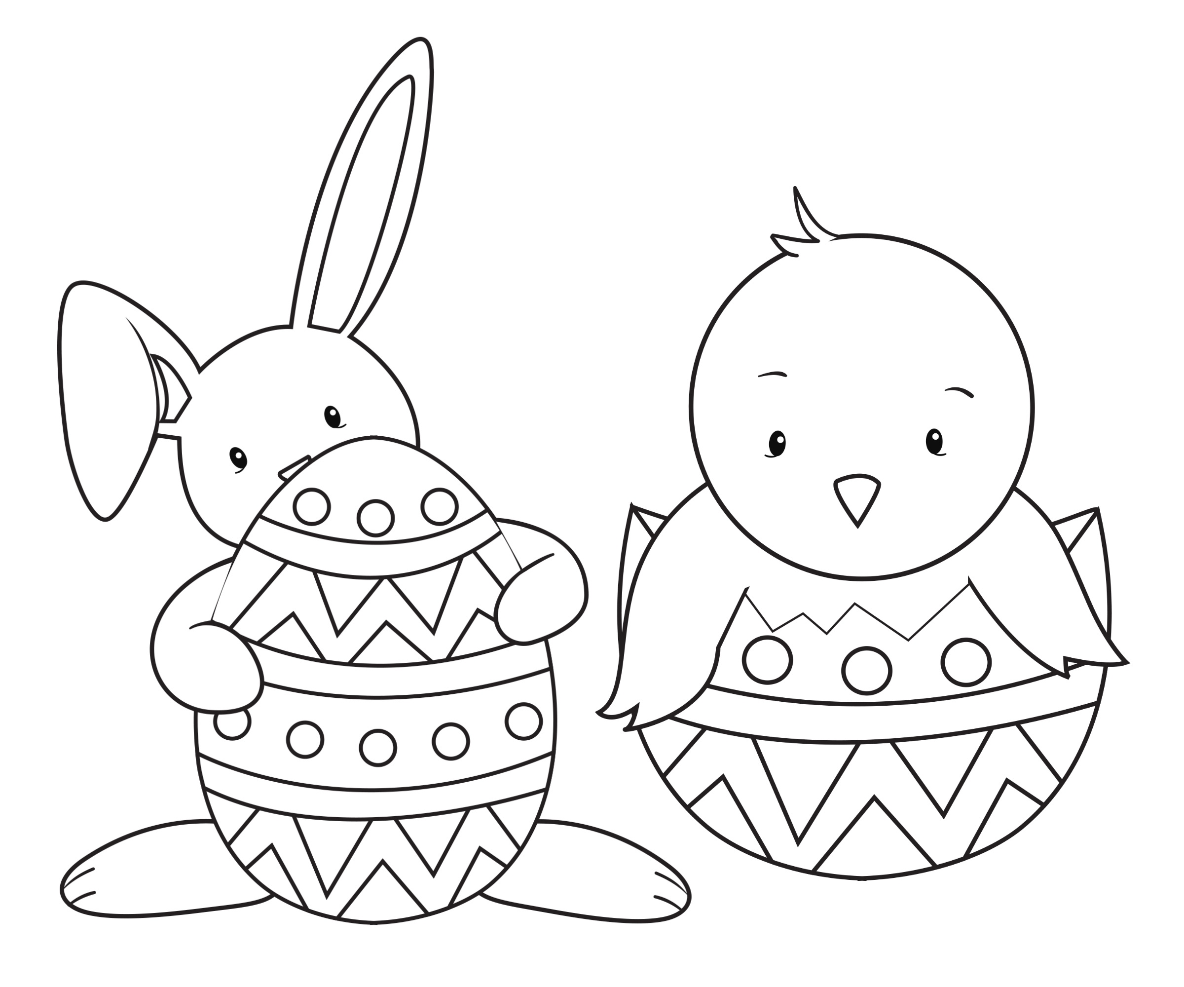 """33 """"happy Easter Coloring Pages"""" Free Printable Pictures For Kids - Free Printable Easter Drawings"""