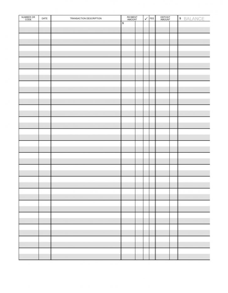 Free Printable Check Register With Running Balance