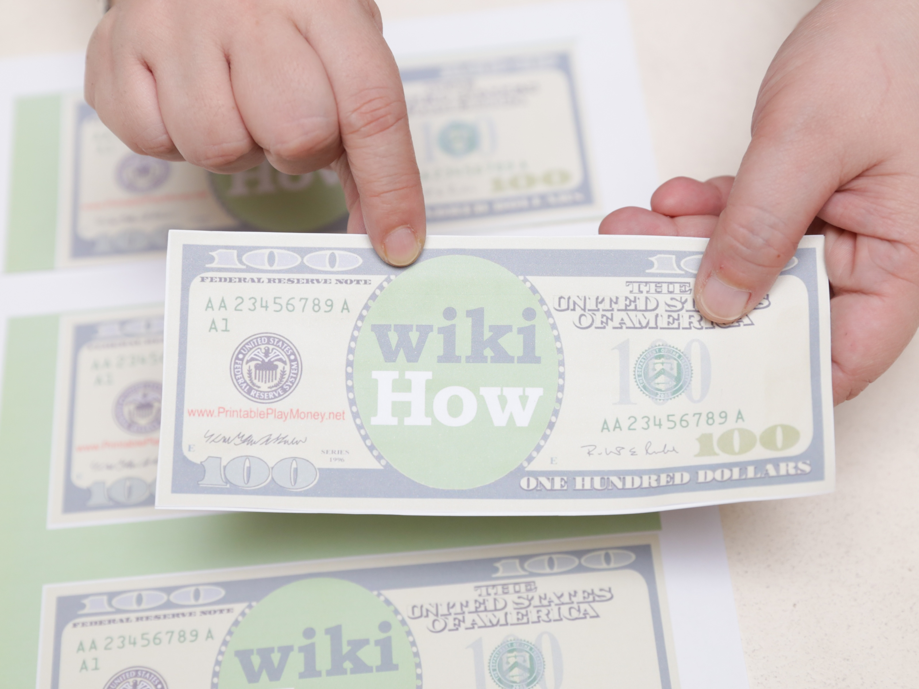 4 Ways To Make Play Money - Wikihow - Free Printable Canadian Play Money For Kids