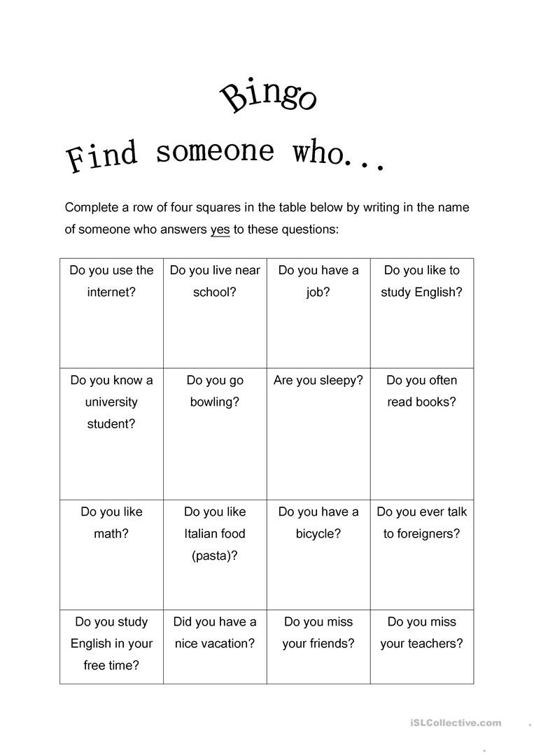417 Free Esl Bingo Worksheets - Free Printable Parts Of Speech Bingo