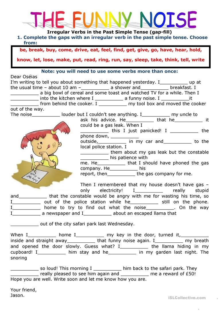 452 Free Esl Irregular Verbs Worksheets - Free Printable Past Tense Verbs Worksheets