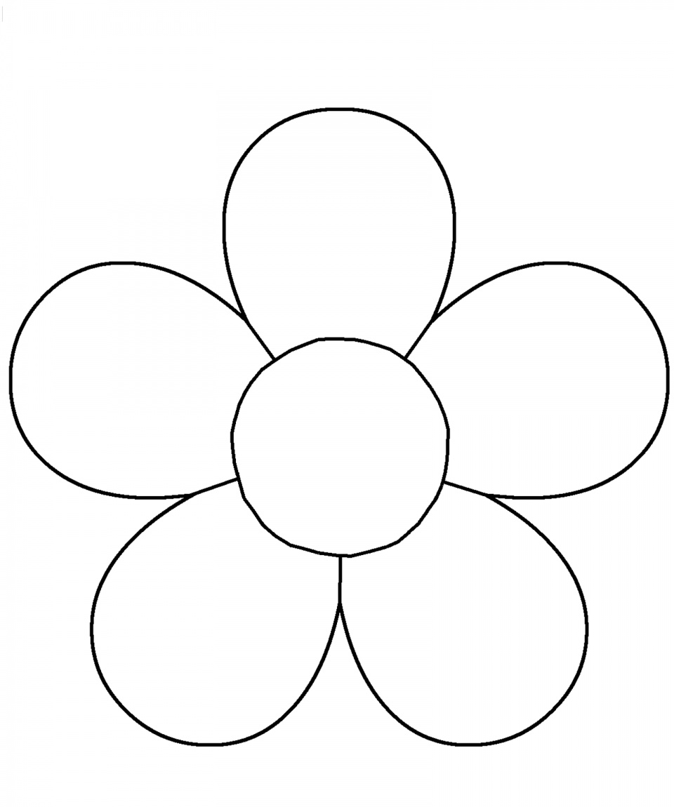5 Petal Flower Template Free Printable (80+ Images In Collection) Page 2 - 5 Petal Flower Template Free Printable