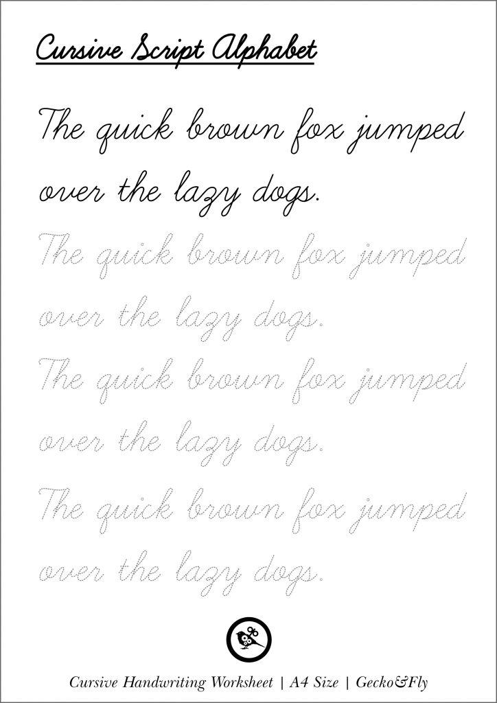 5 Printable Cursive Handwriting Worksheets For Beautiful ...