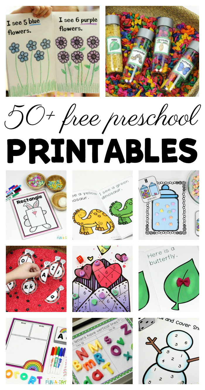 50+ Free Preschool Printables For Early Childhood Classrooms - Free Printable Nursery Resources