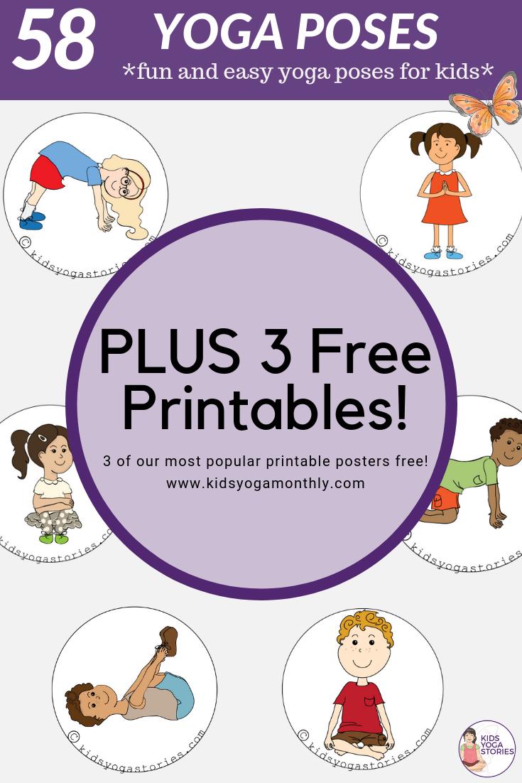58 Fun And Easy Yoga Poses For Kids (Printable Posters)   Classroom - Free Printable Yoga Poses