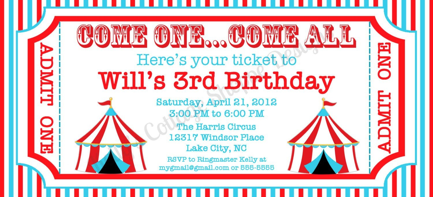 6 Best Images Of Circus Ticket Template Printable   Craft Ideas - Free Printable Ticket Invitation Templates