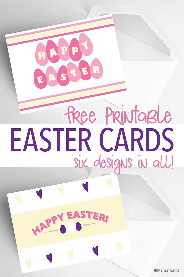 6 Free Printable Easter Cards Every Bunny Will Love | Holidays - Free Printable Easter Cards For Grandchildren