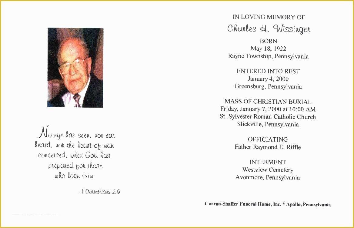 60 Memorial Service Template Free | Heritagechristiancollege - Free Printable Funeral Program Template
