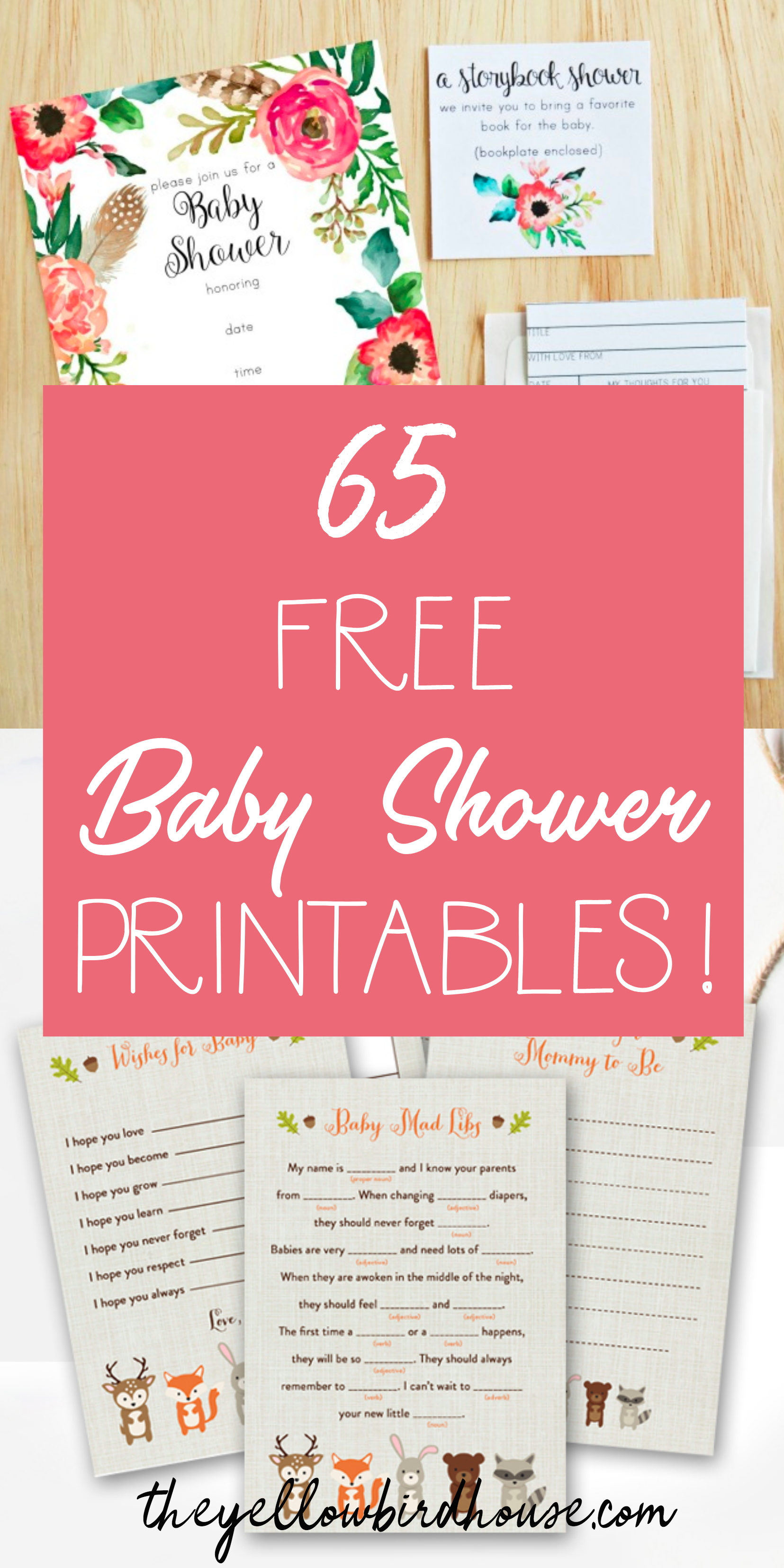 65 Free Baby Shower Printables For An Adorable Party - Free Printable Book Themed Baby Shower Invitations