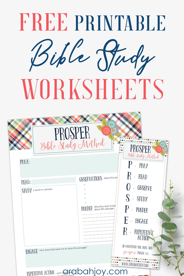 7 Easy Steps To Bible Study For Beginners - Free Printable Bible Study Worksheets