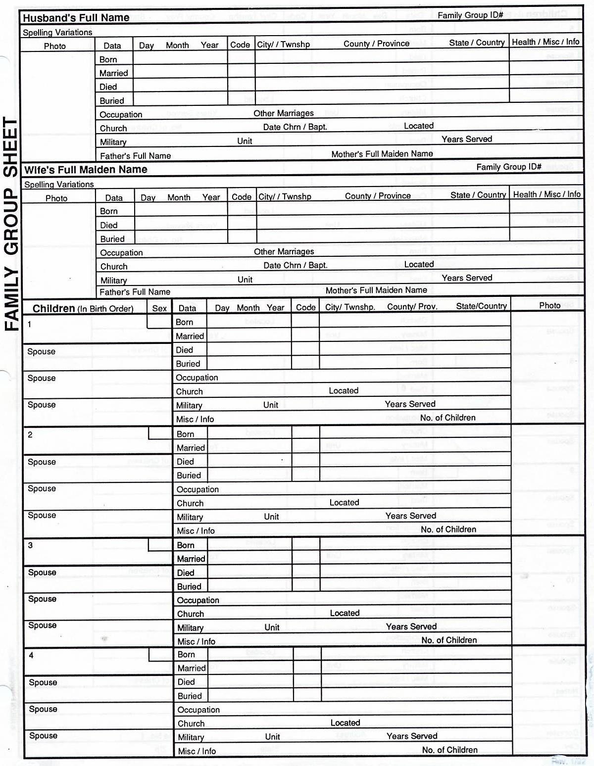 7 Generation Pedigree Chart | Genealogy | Family Tree Chart, Family - Free Printable Genealogy Worksheets