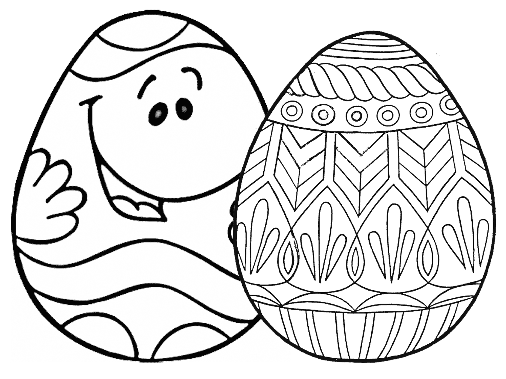 7 Places For Free, Printable Easter Egg Coloring Pages - Free Printable Easter Drawings