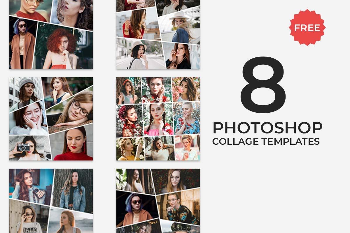 8 Free Photoshop Collage Templates - Creativetacos - Free Printable Photo Collage Template